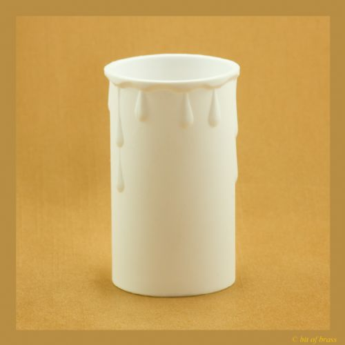 36 x 70mm White Coloured Thermoplastic Candle Cover